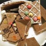 破壊されたお菓子の家